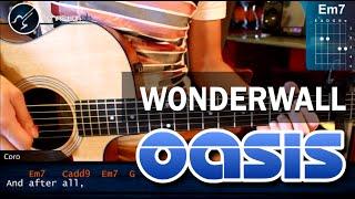"""Cómo tocar """"Wonderwall"""" Oasis en Guitarra Acústica (HD) Tutorial COMPLETO - Christianvib"""