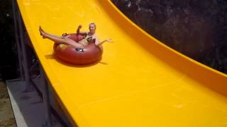 Sexy Blonde Girl, Wet and Wild - Waterslide