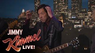Jimmy Kimmel Receives Strange Gift From Guitar Player