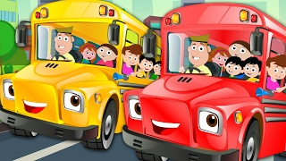 Wheels On The Bus Go Round And Round | Nursery Rhymes | Kids Songs | Children Video | Baby Rhymes