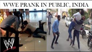 WWE Prank In Public India (Crazy A)