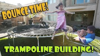 BOUNCE TIME! Skywalker Trampoline Building Action!