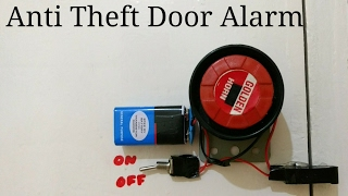 Anti theft automatic door alarm