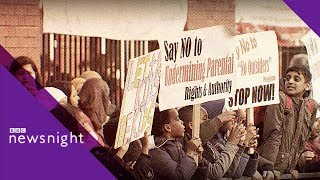 LGBT lessons row: Protesters banned from school - BBC Newsnight