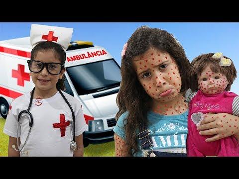 Xxx Mp4 Maria Clara é Médica Por Um Dia E Salva A Bebê Doll ♥ Pretend Play With Doctor 3gp Sex