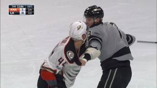 Ducks and Kings brawl after Perry trips Kopitar