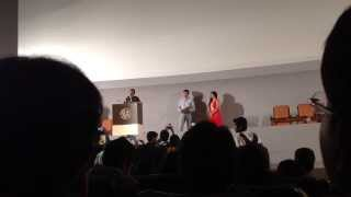 Speech of Prasenjit Chatterjee & Tota Roy Chowdhury during Kolkata International Film Festival 2013