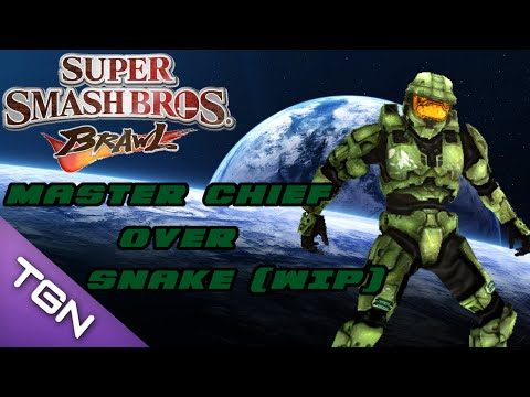 SSBB: master chief over snake (wip)