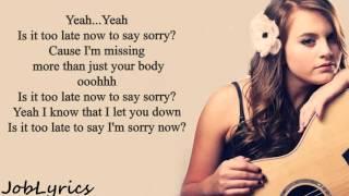 Sorry Lyrics - Justin Bieber(Tayler Buono Cover)