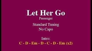 Let Her Go - Easy Guitar (Chords and Lyrics)