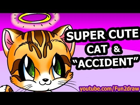 Download video how to draw animals easy cute cartoon cat for Fun to draw cat