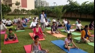 Yoga With Staff member of SRC