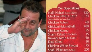 Sanjay Dutt's Release Celebrated With'Chicken Sanju Baba' at Noor Mohammadi Hotel