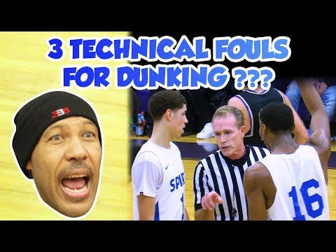 LaMelo Ball 3 Techs for Dunking FULL GAME Spire vs Vermilion Lavar Mad at Refs