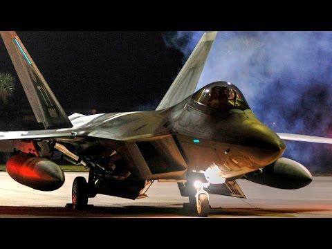 F-22 Raptors Night Launch – Deployment To Europe