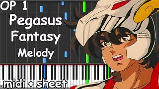 Saint Seiya - Pegasus Fantasy Melody Piano midi