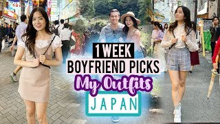 JAPAN - Sightseeing & Shopping | BOYFRIEND / FIANCE chooses my Outfits for A WEEK in JAPAN