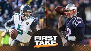 Stephen A. and Max make predictions for Patriots-Jaguars AFC championship | First Take | ESPN