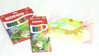 Técnica de colores Kores Acuarelle (acuarelables) sobre cartulina