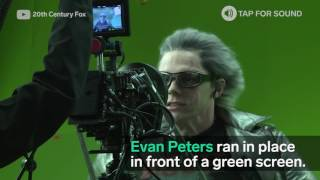 This is how they film the X-Men scenes where Quicksilver runs 20,000 mph