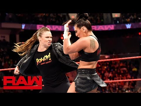 Ronda Rousey helps Natalya fend off Absolution Raw April 16 2018