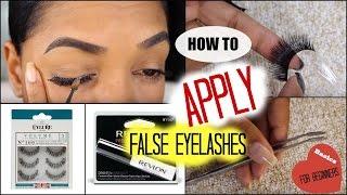 💥 BACK-TO-BASICS 💥 How To APPLY False Eyelashes  for BEGINNERS