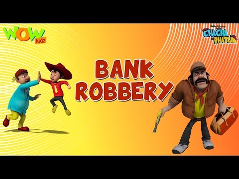 Bank Robbery - Chacha Bhatija - Wowkidz - 3D Animation Cartoon for Kids| As seen on Hungama TV