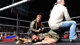 Bret Hart punches Damien Sandow and locks him in the Sharpshooter: WWE Main Event, July 8, 2014