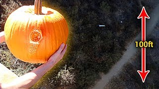 CAN A PUMPKIN PROTECT A $10,000 ROLEX FROM 100 FOOT DROP?!