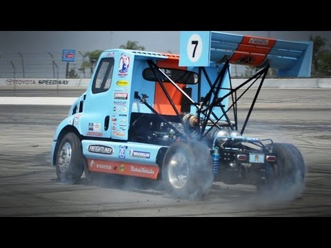 Extreme Rally Racing in a Semi Truck Mt Washington Hill Climb and Mike Ryan