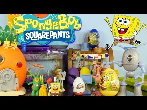 Play doh Kinder Surprise Easter Eggs Hunt Featuring Spongebob Squarepants By Disney Cars Toy Club