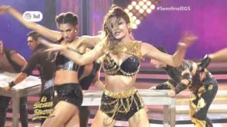 Milett Figueroa bailando y niega romance con bailarin