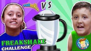 BROTHER vs SISTER FREAKSHAKE CHALLENGE! Grocery Store Shopping Battle! Best Tasting FUNnel Visi