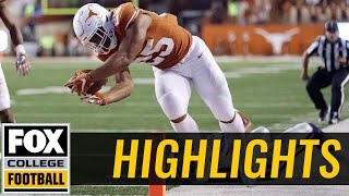 Kansas State vs Texas | Highlights | FOX COLLEGE FOOTBALL