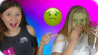 TRICK OR TREAT SMOOTHIE CHALLENGE || HALLOWEEN VIDEO || FOOD CHALLENGE || Taylor and Vanessa