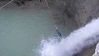Rope jumping waterfall Sopot