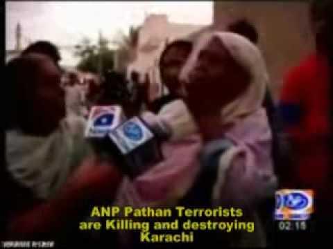 Karachi Terrorist Kafir Pathan raped women & Killed Mohajirs