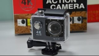 Camera GoCam Action Pro Sport 4k Full Hd Prova Agua Wifi Moto Mergulho Capacete Skate Surf Bike