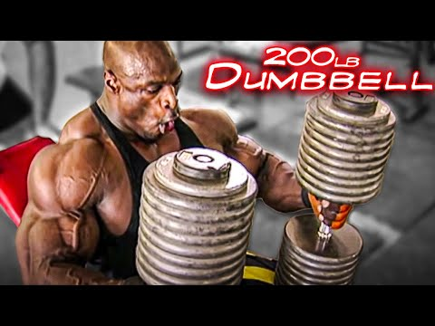 A Day In The Life Of Ronnie Coleman- 200lb Dumbbell Press