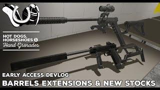 H3VR Devlog: Intro Scene Updates, Modern Pistol Stocks, Barrel Extensions