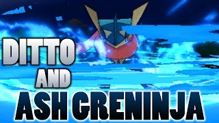 Does Ditto Turn Into Ash Greninja if it gets a KO as Battle Bond Greninja In Pokemon Sun and Moon?