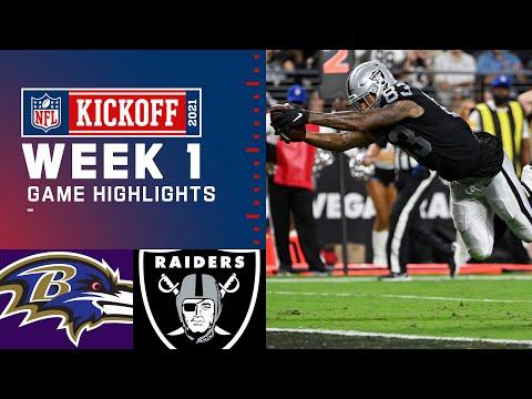 Game of the Year Baltimore Ravens vs. Las Vegas Raiders Week 1 2021 NFL Game Highlights