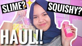 SLIME & SQUISHY HAUL! {Bhs Indonesia}