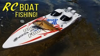 RC Boat CATCHES FISH!!! Saltwater!