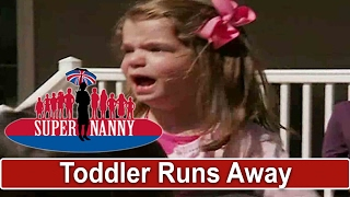 Toddler Runs Away When Dad Leaves House | Supernanny USA