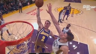 Lonzo Ball Almost MURDERS Jakob Poeltl With Dunk! Lakers vs Spurs