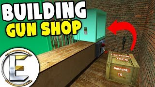 Building A Big Gun Shop - GMOD DarkRP (Made Fast And Easily To Start Selling Guns)