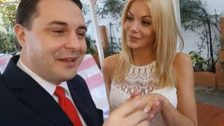 Wedding ceremony of Andrea Diprè with Riley Steele
