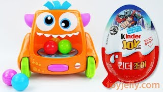 Learn Colors Crawl Monster Kinder Joy Surprise Egg Toys Disney Cars Baby Food Finger Family Songs