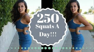 WHAT 250 SQUATS DID TO MY BUTT IN 1 MONTH!!! | @katierose.franko